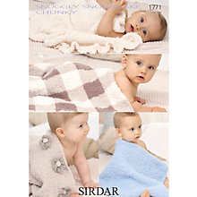 Buy Sirdar Snuggly Snowflake Chunky Baby Blankets Knitting Patterns, 1771 Online at johnlewis.com
