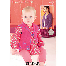 Buy Sirdar Snuggly 4 Ply Children's Cardigan Crochet Patterns, 4473 Online at johnlewis.com