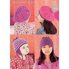 Buy Sirdar Snuggly 4 Ply Children's Hats Crochet Patterns, 4474 Online at johnlewis.com