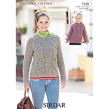 Buy Sirdar Women's and Girls' Jumper Knitting Pattern, 7169 Online at johnlewis.com