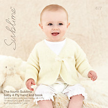 Buy Sirdar Sublime Baby 4-Ply Hand Knit Knitting Patterns Book, 677 Online at johnlewis.com