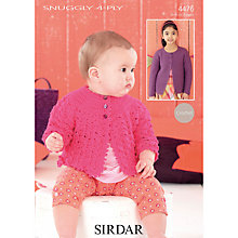 Buy Sirdar 4 Ply Children's Cardigan Crochet Patterns, 4476 Online at johnlewis.com