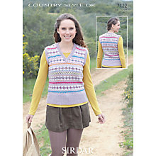 Buy Sirdar DK Women's Tank Top Knitting Pattern, 7122 Online at johnlewis.com