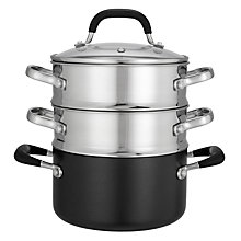 Buy John Lewis 'The Pan' Steamer Set, 3 Pieces Online at johnlewis.com