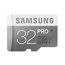 Buy Samsung Pro UHS-I U1 microSDHC Memory Card, 32GB, 90MB/s, with SD Adapter Online at johnlewis.com