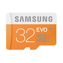 Buy Samsung Evo UHS-I microSDHC Memory Card, 32GB, 48MB/s, with SD Adapter Online at johnlewis.com
