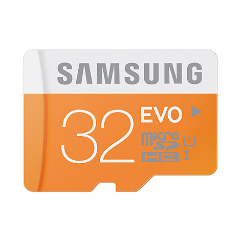 Buy Samsung Evo UHS-I U1 microSDHC Memory Card, 32GB, 48MB/s, with SD Adapter Online at johnlewis.com