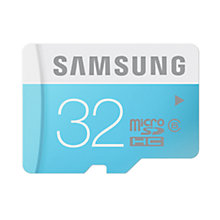 Buy Samsung Class 6 microSDHC Memory Card, 32GB, 24MB/s, with SD Adapter Online at johnlewis.com
