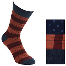 Buy Selected Homme Akalik Socks, Pack of 3, One Size, Arabian Spice Online at johnlewis.com