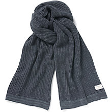 Buy Selected Homme Cotton Scarf, Denim Online at johnlewis.com