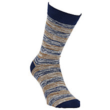 Buy Selected Homme Striped Socks, One Size, Blue/Gold Online at johnlewis.com