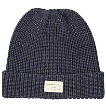 Buy Selected Homme Cotton Beanie, Denim Online at johnlewis.com