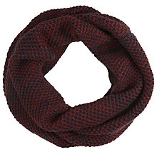 Buy Selected Homme 2 Colour Snood, Red/Navy Online at johnlewis.com
