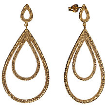 Buy Phoebe Coleman Plume Drop Earrings, Gold Online at johnlewis.com