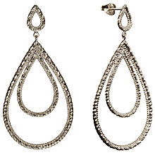 Buy Phoebe Coleman Plume Drop Earring, Silver Online at johnlewis.com