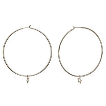 Buy Phoebe Coleman Orbit Hoop Earrings, Silver Online at johnlewis.com