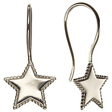 Buy Phoebe Coleman for John Lewis North Star Hook Earring, Silver Online at johnlewis.com
