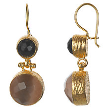 Buy Ottoman Hands 21ct Gold Plated Double Stone Drop Earrings Online at johnlewis.com