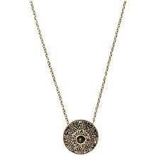 Buy Orelia Marcasite Mini Oval Pendant, Black Online at johnlewis.com