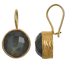 Buy Ottoman Hands Gold Plated Circle Drop Earrings Online at johnlewis.com