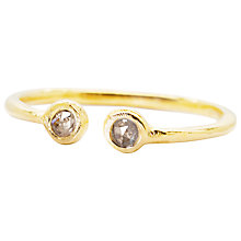Buy Auren 22ct Vermeil Double Diamond Ring Online at johnlewis.com