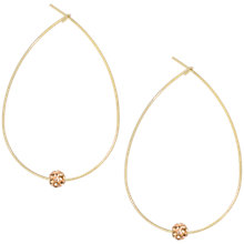 Buy Orelia Teardrop Hoop & Sparkle Ball Earrings, Gold Online at johnlewis.com