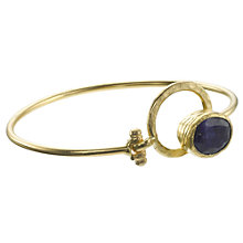 Buy Ottoman Hands 21ct Gold Plated Lapis Lazuli Geometric Bangle, Blue Online at johnlewis.com