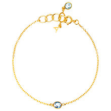 Buy Auren 22ct Gold Vermeil Topaz Bracelet Online at johnlewis.com