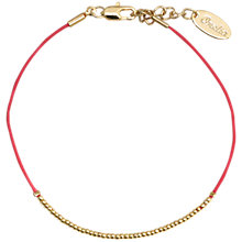 Buy Orelia Tiny Friendship Bracelet, Red / Gold Online at johnlewis.com