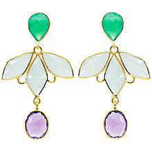 Buy Auren Kite Cascade 22ct Gold Earrings Online at johnlewis.com