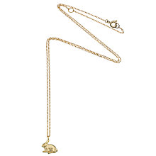 Buy Estella Bartlett Rabbit Gold Plated Necklace, Gold Online at johnlewis.com