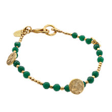Buy Azuni Bead and Disc Bracelet, Green Onyx Online at johnlewis.com