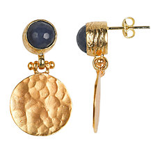 Buy Ottoman Hands Gold Plated Crystal Circle and Hammered Disc Drop Earrings Online at johnlewis.com