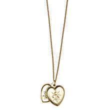 Buy Orelia Vintage Locket Pendant, Pale Gold Online at johnlewis.com