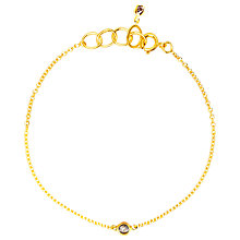Buy Auren 22ct Gold Vermeil Diamond Set Bracelet Online at johnlewis.com