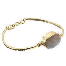 Buy Ottoman Hands 21ct Gold Plated Smokey Quartz Circlet Bangle, Dusty Pink Online at johnlewis.com