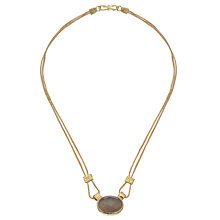 Buy Ottoman Hands 21ct Gold Plated Double Chain Necklace Online at johnlewis.com