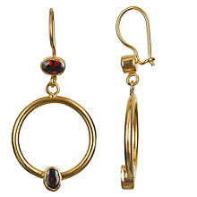 Buy Ottoman Hands 21ct Gold Plated Double Crystal Hoop Drop Earrings Online at johnlewis.com