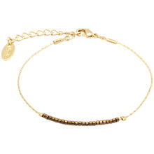 Buy Orelia Slinky Fine Bead Bracelet, Bronze Online at johnlewis.com
