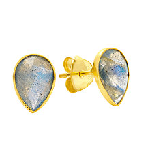 Buy Auren Tear Drop Rose Cut Stud Earrings, Labradorite Online at johnlewis.com