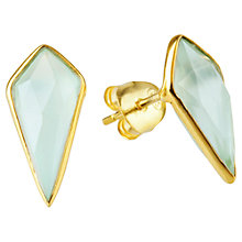 Buy Auren 22ct Gold Vermeil Aqua Chalcedony Shard Stud Earrings Online at johnlewis.com