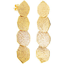 Buy Auren 22ct Gold Vermeil Geometric Disc Drop Earrings Online at johnlewis.com