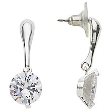 Buy John Lewis Hanging Pendant Round Stone Earrings Online at johnlewis.com