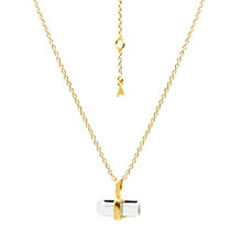 Buy Auren 22ct Gold Vermeil Lariate Green Amethyst Pendant Online at johnlewis.com