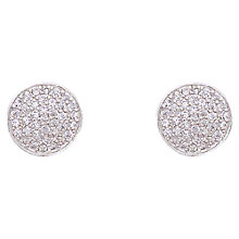 Buy Joma Annika Silver Pave Stud Earrings Online at johnlewis.com