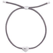 Buy Joma Kiko Friendship Bracelet, Grey Online at johnlewis.com