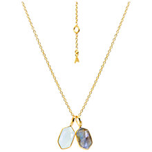Buy Auren Rose Cut 22ct Gold Hexagon Pendant Necklace Online at johnlewis.com