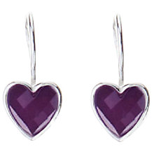 Buy Joma Kiki Heart Earrings, Purple Online at johnlewis.com