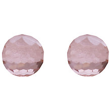 Buy Joma Elisa Crystal Stud Earrings, Pink Online at johnlewis.com