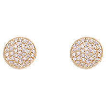 Buy Joma Annika Gold Pave Stud Earrings Online at johnlewis.com